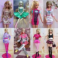 Princesse Costumes Pour Poupée Barbie Rose Robes