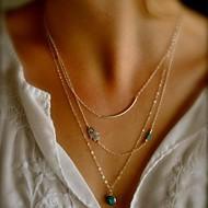 shixin® vintage dragulj legure maleni ogrlica privjesak (zlatna) (1 kom)