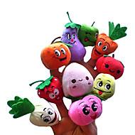 10PCS Fruit with Expression Plush Finger Puppets Kids Talk Prop