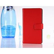のために Nokiakケース ウォレット / カードホルダー / スタンド付き ケース フルボディー ケース ソリッドカラー ハード PUレザー Nokia Nokia Lumia 925