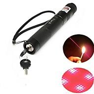 lt-303b verrouillable pointeur laser rouge (2 MW, 650nm, 1x18650, noir)
