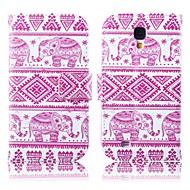 elefanti rosa pattern di cuoio dell'unità di elaborazione caso tutto il corpo con il basamento per Samsung i9500 s4