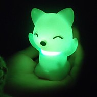 Coway räven katter färgglada ledde nattlampa