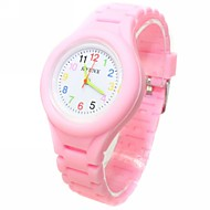 Kid's Analog Coloured Silicone Band Wrist Watch(Assorted Colors) Strap Watch Cool Watches Unique Watches Fashion Watch