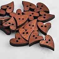 hjerte formet utklippsbok scraft sy DIY tre knapper (10 stk)