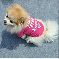 Kissat / Koirat T-paita Ruusunpunainen Koiran vaatteet Kesä Kirjain ja numero Cosplay
