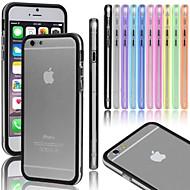 gel vormor® caso botão transparente pára-choques de metal para iPhone 5 / 5s