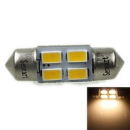 31mm (SV8.5-8) 2w 4x5730smd120-1600lm 3000-3500K, warmweißes Licht-LED für Auto Leselampe (ac12-16v)