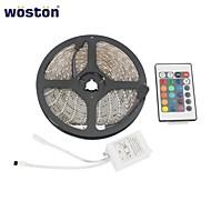 woston 5 mètres, étanche 300x3528 RVB SMD LED bande lumineuse avec télécommande à 24 touches