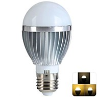5W E26/E27 LED Globe Bulbs 12 SMD 100-500 lm Warm White Dimmable / Remote-Controlled AC 85-265 V