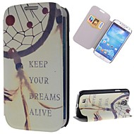 Keep Dream Catcher Pattern PU Leather Full Body Case with Stand and Card Slot for Samsung Galaxy S4 I9500