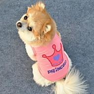 Kissat / Koirat T-paita Pinkki Koiran vaatteet Kesä Tiarat ja kruunut / Kirjain ja numero Cosplay
