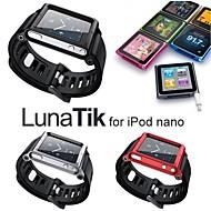 lunatik armband klocka band armband för iPod nano 6 fall (blandade färger)