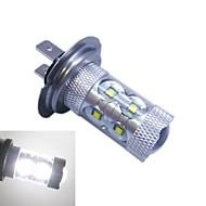 H7 Cree ledx12 60W 6500K -7000k valkoinen valo johtanut lamppu auton (12-24V, 1kpl)