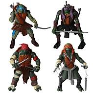 tartarughe ninja action figures di movimento misto istituito giocattoli con luce a led (4 pezzi)