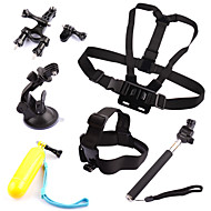 6 in 1 kit Chest +Head Strap+Floating Grip +Handlebar Seatpost + Monopod +Suction Cup For GoPro Hero 1 2 3 3+