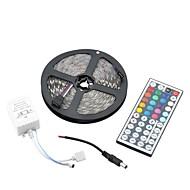 60W 1500lm  5050 300-SMD RGB Decoration Light Strip w/ 44-Key Remote Controller - White (5m)