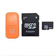 16gb klasse 10 MicroSDHC tf flash minnekort med sd sdhc adapter og usb kortleser