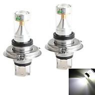 hj h4 30w 2600lm 6000-6500k 6x2835 SMD LED weißes Licht Lampe für Auto Nebelscheinwerfer (12-24V, 2 Stück)