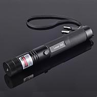 rayo verde de alta potencia jd303 punteros láser ajustable pluma (5mW, 532nm, 1x18650 incluye batería + cargador) negro