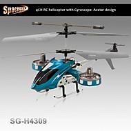 hélicoptère rc intérieur de 4.5ch avec gyroscope glisser vers la gauche et la droite sg-h4309