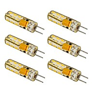 6 pcs G4 1.5 W 24 SMD 3014 100-120 LM Warm White / Cool White T Corn Bulbs AC 12 V