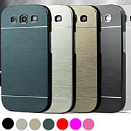 DF® Luxury High Quality Solid Color Brushed Aluminium Hard Case  for Samsung S3 I9300 (Assorted Color)