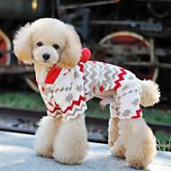 애완 동물 개를위한 부드러운 따뜻한 양털 눈 하루 스타일 후드 낙하산 강하 복 (다양한 크기)