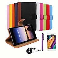 のために Huaweiケース ウォレット / カードホルダー / スタンド付き / フリップ ケース フルボディー ケース ソリッドカラー ハード PUレザー Huawei Huawei P7