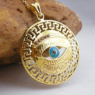 18K Golden Plated Evil Eye Allah Muslim Pendant