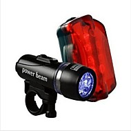 WEST BIKING® Waterproof LED Head Flash Front Light+Night Rear Flashlight Warning Cycling Bicycle 5 LED Lamp Light