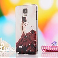 For Samsung Galaxy Note Rhinestone / Pattern Case Back Cover Case Sexy Lady PC Samsung Note 4