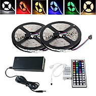10M 150X5050 SMD RGB LED Strip Light and 44Key Remote Controller and 6A EU Power Supply (AC110-240V)
