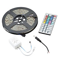 Waterproof 72W  RGB Light Flexible Strip 4300lm 300-5050 SMD LED w/ 44-Key Controller (5m / DC 12V)
