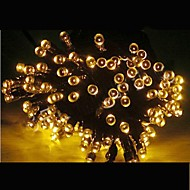 21m Solar Powered Colors 200 LED Xmas Party Indoor Outdoor Fairy StringLight Christmas Lamp -Yellow