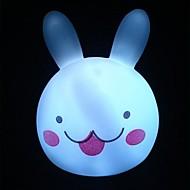 Colorful Rabbit Head  Night Light