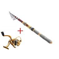 2.7M Carbon Red Sea Fishing Medium Light Fishing Rod & Reel Combos Fishing Reel  AF5000 Spinning Fishing Reels