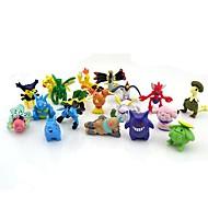 pokemon 24pcs 2-3cm mini pvc actionfigur sett (tilfeldige farger)
