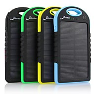 5000mAh Portable Solar Power Bank Charger with Apple Connector (5V 1A) for iPhone 6 and other Mobile Devices