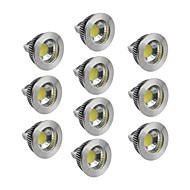 5W GU5.3(MR16) LED Spotlight 1 COB 400-450 lm Warm White / Cool White / Natural White Dimmable DC 12 V 10 pcs