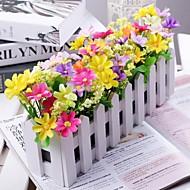 Tak Polyester Kunststof Madeliefjes Bloemen voor op tafel Kunstbloemen