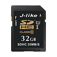 J-Like 32GB Clase 10 / UHS-I U1 SD/SDHC/SDXCMax Read Speed30 (MB/S)Max Write Speed15 (MB/S)