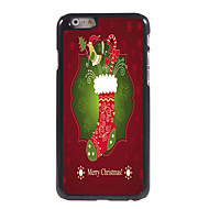 iphone 6メリークリスマスデザインのアルミハードケース