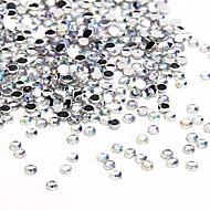10000PCS 1.5mm Clear AB Crystal Acrylic Glittery Rhinestones Nail Jewelry for Nail Art Nail Design