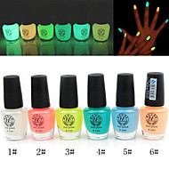 noctilucent nail polish glow-in-scuro (colori assortiti, 6ml)