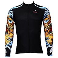 PALADIN® Cycling Jersey Men's Long Sleeve Bike Breathable / Quick Dry / Ultraviolet Resistant Jersey / Tops 100% Polyester FashionSpring
