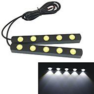 Carking™ 12V 5LED 5W Eagle Eye Car Daytime Running Lights--White Light(2PCS)