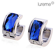 Lureme®Men's Titanium Steel Blue Diamond Earrings \\\\\\\\\\ Jewelry Christmas Gifts