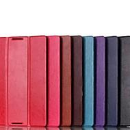 cuero de la PU del color sólido de alta calidad plegable caso de cuerpo completo para el lenovo A7600 a10-70 (colores surtidos)