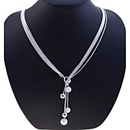 Necklace Strands Necklaces Jewelry Halloween / Party / Daily / Casual Fashion Silver / Sterling Silver Silver 1pc Gift